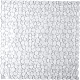 Bathsafe Square Shower Stall Mat 21X21Inch Machine Washable Bath Tub Mats Bathroom Mats with Suction Cups and Drain Holes,Cle