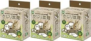 マルカン かじり放題 ハムスター うさぎ モルモット 小動物用 3個入×3セット (まとめ買い)