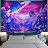 Planet Tapestry Trippy Mountain Tapestry Psychedelic Galaxy Space Tapestry Fantasy Mushroom Tapestry Magic River Landscape Ta