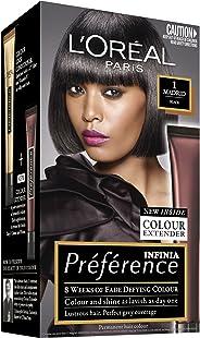 L'Oréal Paris Préférence Permanent Hair Colour - 1 Madrid (Intense, fade-defying colour)