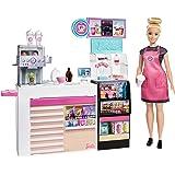 バービー(Barbie) おしごとあそび バービー コーヒーショップ 【着せ替え人形】【ドール、アクセサリーセット】【3歳~】 GMW03
