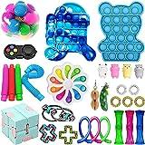 30Pcs Sensory Fidget Toy Set, Cheap Fidget Pack Toys Relieves Stress Anxiety for Kids Adults Fidget Toy Kill Time (Fidget Pac