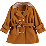 ZAXARRA Toddler Baby Girls Long Sleeve Jacket Trench Coat Denim Outwear Winter Clothes