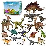 Tagitary 恐竜フィギュア 知育おもちゃ 17点セット 誕生日プレゼント 収納ボックス付き リアルな恐竜おもちゃ…
