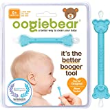 oogiebear - Curved Scoop and Loop - The Safe Baby Nasal Booger and Ear Cleaner - Easy Baby Nose Cleaner Gadget for Infants an