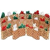 MOMONI 28 Piece Medium Premium Christmas Gift Bags- Classic Variety Kraft Gift Bags Bulk Christmas Bags- Good for Xmas Party