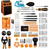 Jakemy 99 in 1 Screwdriver Set 50 Magnetic Precision Driver Bits Repair Tool kit with Pocket Tool Bag for iPhone 8 / Plus Com