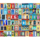 Jigsaw Puzzles 1000 Pieces for Adults Doors and Windows of World Challenging Puzzle Large Difficult Puzzles DIY Entertainment