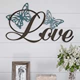 Lavish Home Metal Cutout- Love Decorative Wall Sign-3D Word Art Home Accent Decor-Perfect for Modern Rustic or Vintage Farmho