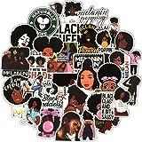 100 Pieces Struggle Stickers Melanin Poppin Stickers Black Girl Pop Singer Computer Decal for Laptop Water Bottles Skateboard