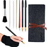 Scratch Painting Art Tool, 10 Pieces Scratching Drawing Tool Set, Including Artist Glove, Repair Brush, Tool Bag, Scratch Col