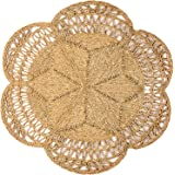 Circle Rug of Rattan Rug   Natural Rug Round 4 Ft, Round Jute Rug, Wicker Rug, Round Boho Rug, Woven Rug, Boho Rugs for Bedro