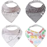 Parker Baby Bandana Drool Bibs 4 Pack Baby Bibs for Boys, Girls, Unisex