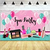 Girl Spa Party Backdrop Sweet Pink Princess Makeup Birthday Photography Background Spa Theme Photo Booth Backdrop Banner Tabl