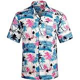 アロハシャツ メンズ 通気速乾 超軽量 ゆったり プリント 夏 ハワイシャツ