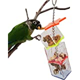 Tropical Chickens Parrot Bird Boredom Buster Forage Box Creative Hanging Treat Foraging Toy Conure Cockatiel for Small Bird E