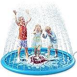 "Jasonwell Sprinkle & Splash Play Mat 68"" Sprinkler for Kids Outdoor Water Toys Inflatable Splash Pad Baby Toddler Pool Boys G"
