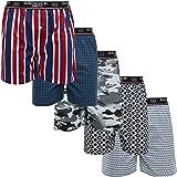 Badger Smith Men's 5 - Pack Cotton Print Multicolor Boxer Shorts