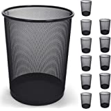 Smart Design Steel Metal Mesh Waste Basket - Garbage, Paper Clutter, Trash Can Bin - Easy to Clean Design - Home & Office (11