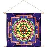 21X22 Energized Sacred Geometry Hindu/Buddhism Tantra 'Sri Yantra' Meditation Banner for Peace prosperity manifestation and a