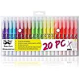Mr. Pen- Gel Highlighters, Bible Highlighter, Pack of 20, No Bleed Highlighter, Dry Highlighter, Highlighters Assorted Color,