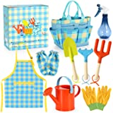 Kids Gardening Set - Kids Gardening Tools Set Colorful Children Garden Tools Fun STEM Toys with Watering Can, Gloves, Shovel,
