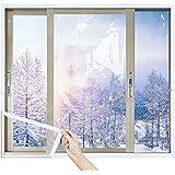 MAGZO TPU Window Insulation Kit 48'' x 99'', DIY Adjustable TPU for Windows Fits Any Smaller Size Heavy Duty Window Insulator