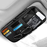 Car Sun Visor Organizer, Linkstyle Auto Car Interior Accessories Storage Pocket Multifunctional Sun Visor Pouch Case Bag for