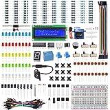 SunFounder Electronics Fun Kit with 1602 LCD Module,breadboard,LED,Resistor for Arduino R3 MEGA2560 Raspberry Pi 400 4B 3B 3B