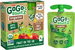 GoGo Squeez Organic Apple, 90.7g (Pack of 4)