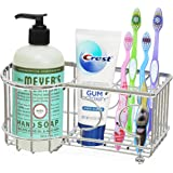 Simple Houseware Multi-Functional 6 Slots Toothbrush Holder, Chrome