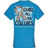Cure Heather Sapphire Blue Cotton Fabric Novelty T-Shirt