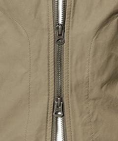 Cotton Nylon Twill No Collar Zip Blouson 3225-199-1867: Olive