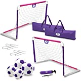 Morvat Soccer Goal Set for Backyard, Outdoor Toys Soccer Net, Soccer Goals for Backyard, Soccer Accessories, Pop Up Soccer Go
