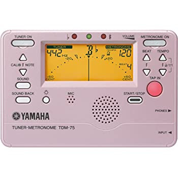 YAMAHA チューナーメトロノーム プラチナピンクバージョン(限定品) TDM-75PP