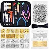 Jewelry Making Kits for Adults, Shynek Jewelry Making Supplies Kit with Jewelry Making Tools, Jewelry Wires, Jewelry Findings