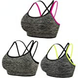 Women's Yoga Bra High Impact Sports Bras Zipper Closure Racerback Support Bra Workout Tank Tops with Adjustable Straps