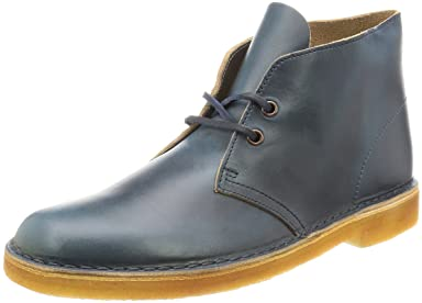 Desert Boot: Petrole Blue Leather