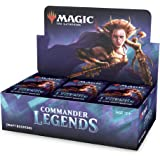 Magic The Gathering C63230000 Commander Legends Draft Booster Box | 24 Booster Packs (480 Cards) | 2 Legends Per Pack | Facto