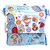 In the Night Garden 1684 30 Foam Pieces Featuring Key Characters Including Igglepiggle, Upsy Daisy, Makka Pakka & More, Bath