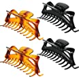 4 Pieces 5.5 Inches Large Hair Clips Jumbo Jaw Clips Strong Holding Hair Claw Clips Crystal Plastic Hair Claw Clips for Women