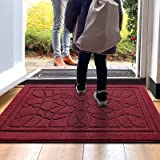 """DEXI Door Mat Front Doormat Outdoor Indoor Rug,Low Profile Non Slip Washable Inside and Outside Mats for Entrance,20""""x32"""" Red"""