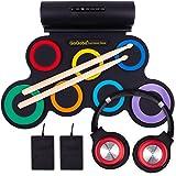 QoQoba Electronic Drum Set for Kids | Adult Beginner Pro MIDI Drum Practice Pad Kit Incl. Foldable Headphone | Drum Sticks |