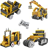 Ingenious Machines Construction Crew Robot Vehicle Building Kit TG667 ? Remote Control Blocks Motorized Vehicle Kids Robotic
