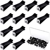 60 Pieces Square Head Car Air Vent Clips Car Outlet Perfume Clips Black Air Outlet Clips Auto Air Conditioner Clips with 2 St