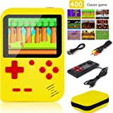 "Handheld Game Console, Retro Game Console with 400 FC Games (super Mario) 3 "" Color Screen,video games Support for Connecting"