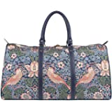 Signare Tapestry Big Holdall Weekender Luggage William Morris Strawberry Thief Blue