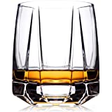 Whiskey Glasses Set 2 | Old Fashioned Glasses for Scotch Whisky, Bourbon and Cocktails | Hand Blown Scotch Glasses with Thick