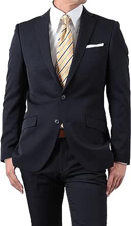 秋冬 なめらか新素材 洗えるパンツ スリムシルエット ビジネス仕事 2ツボタン スーツ 濃紺・ストライプ 体型:A体 4号