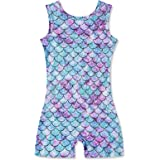 Uideazone Girls Leotards Gymnastics with Shorts Sparkly Glitter Dance Ballet Unitard One-Piece Tank Biketards 3-7 Years